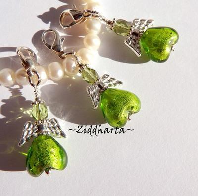 ÄppelGrönt: Ängla-hänge smyckestillverknings-KIT
