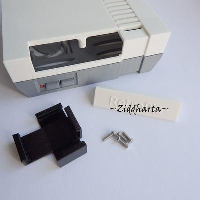 Nintendo låda - Retro Chassi till elektronik: 3D Printed Nintendo Raspberry Pi Case. Retro Video Games Console