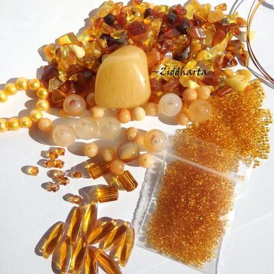 REA - Utförsäljning: Amber, Jade, Quartz & Swarovski Crystals! Pärlor, kristaller & Halvädelsten Kit - OBS: SISTA!