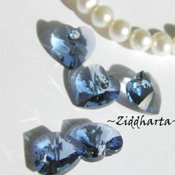 Swarovski 10mm HJÄRTA - Blue Denim