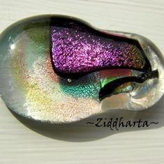 20 Metallic Pink - Dichroic hänge på smyckesrem