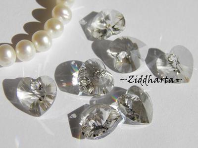 Swarovski 10mm HJÄRTA - Crystal Silver Shade