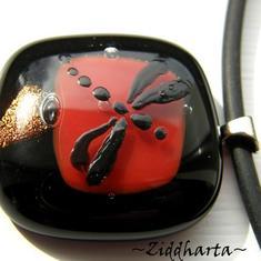 10 DragonFly - Dichroic hänge på smyckesrem