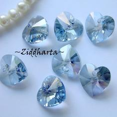 Swarovski 14mm HJÄRTA - Crystal Blue Shade