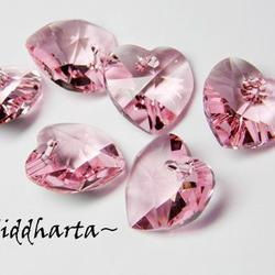 Swarovski 14mm HJÄRTA - Light Rose