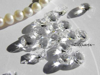Swarovski 8mm Oval Droppe - Crystal