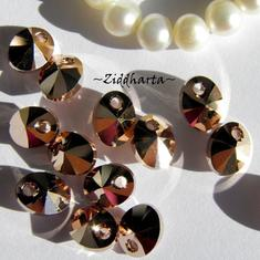 Swarovski 8mm Oval Droppe - Rose Gold 2x