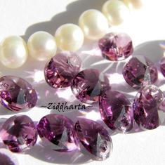 Swarovski 8mm Oval Droppe - Amethyst