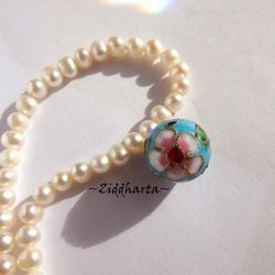 1 Cloisonné pärla: 15mm Turquoise Turkos Stor Rund Kula #51