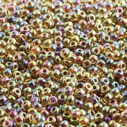10gram Miyuki Seed Beads 11/0 - #357 Topaz Fancy Luster - ca 1000 pärlor