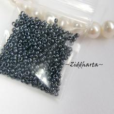 5gram Miyuki Seed Beads 15/0 - Hematite - ca 1250 pärlor