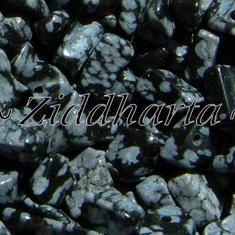 10gr Snowflake /Snöflinge Obsidian chips