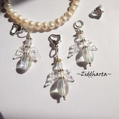 1 Ängla-hänge: Crystal AB Ängel Acrylic Crystal Clear Wings - Handmade Angels by Ziddharta