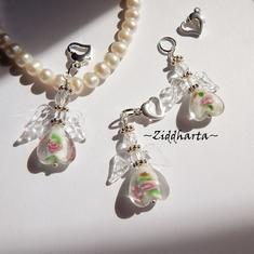 1 Ängla-hängen: Vit VITT White GS Crystal Clear Wings Handmade Angels