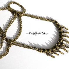 "Victorian SteamPunk ""Fringes"" - vackert halsband i bronze! MATERIAL-kit"