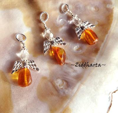 1pc Amber / Rav / Bärnsten Angel Pedant Guardian Angels - Angel pendants by Ziddharta