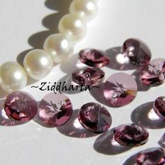 4st Swarovski 6mm Rivoli - Antique Pink